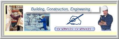 cvs for building, construction and engineering..